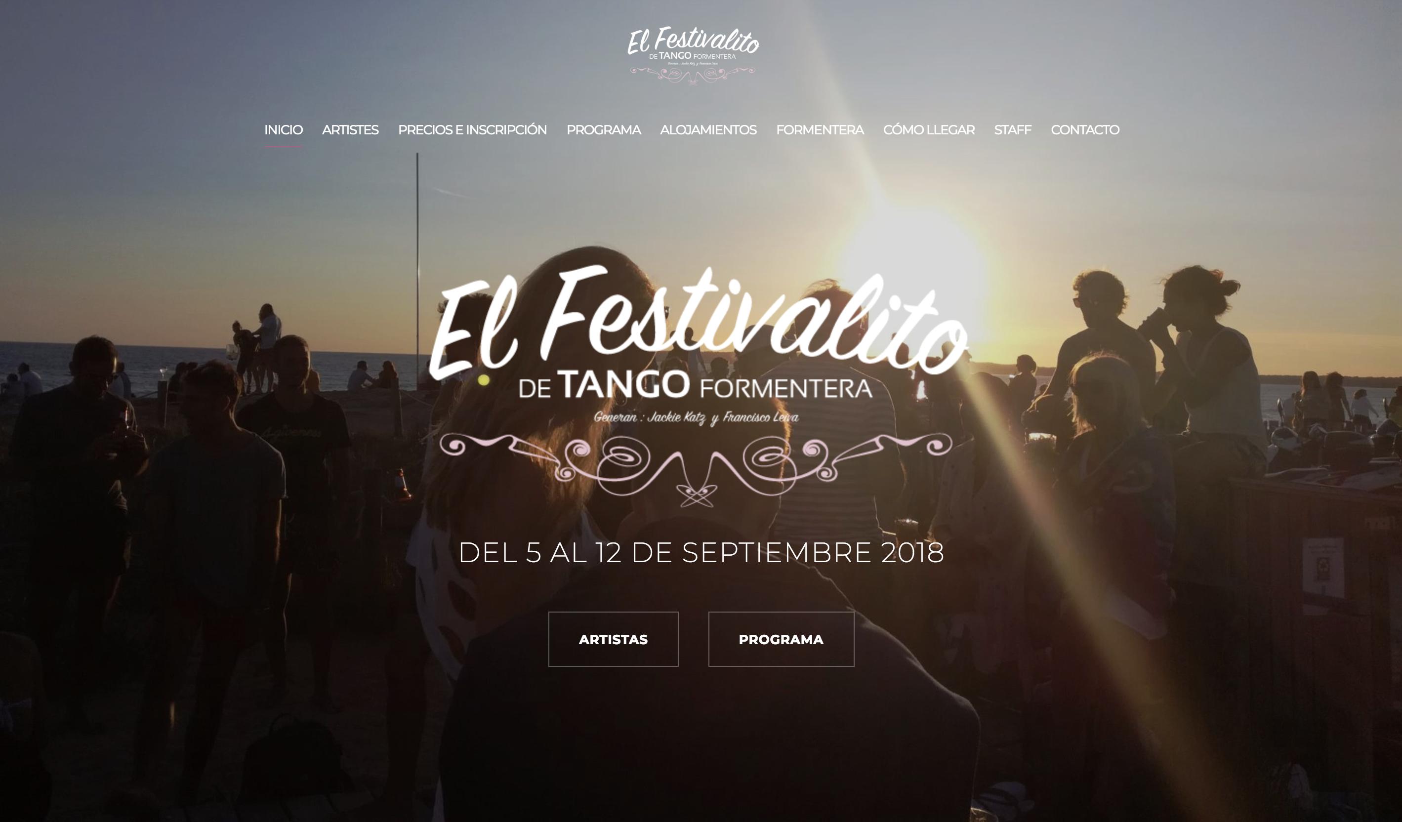 El Festivalito de Formentera - Création web arborescencia.net